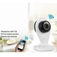 Wifi Wireless IP Camera 720P 1.0MP With IR-CUT CCTV Security ONVIF Baby Monitor 128GB SD Card Motion Detection EU US Plus