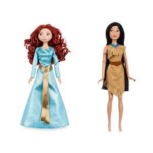 Image 4 - Negozio genuino Disney Rapunzel Jasmine Principessa Bambola mulan Ariel Belle giocattoli Per i bambini regalo di Natale