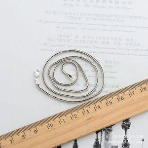 Image 4 - 925 סטרלינג כסף שרשרת, עבה 1.6mm נחש שרשרת עצם נקבה כסף הוא 70 cm ארוך