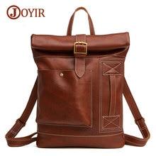 Joyir Brand Soft Men Backpack 100% Genuine Leather Backpacks Man Bag High Quality Shoulder Bag School Men Travel Laptop Bag 6396