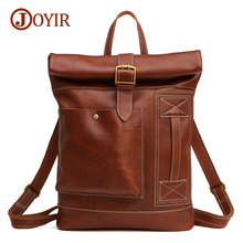 Joyir Brand Soft Men Backpack 100% Genuine Leather Backpacks Man Bag High Quality Shoulder Bag School Men Travel Laptop Bag 6396