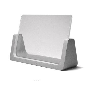 держатели визиток | Бетонная конструкция силиконовые формы бетона Искусно сделанные формы бизнес держатель для карт пресс-форм фото рамка силиконовая форма