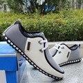 2017 Primavera respirável sapatos doug homens sapatos casuais aumentou dentro flats Britânico rendas até sapatos da moda