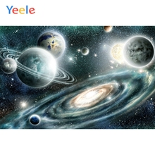 Yeele Solar System Planet Universe Alien Children Photographic Backgrounds Boy Space Photography Backdrop for Photo Studio