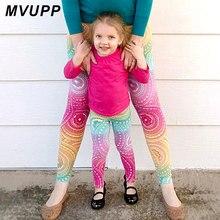 Одежда для мамы и дочки; рождественские штаны для йоги; эластичные одинаковые комплекты для мамы и ребенка; одежда для семьи; платье для мамы и ребенка