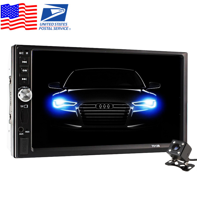 2 DIN Car Video Player + Rear View Camera 7 inch Touch Screen Car Radio Audio Stereo MP5 Player 2Din USB FM Bluetooth car radio 7 inch lcd touch screen car radio player bluetooth hands free movie rear view camera 2 din audio stereo mp5