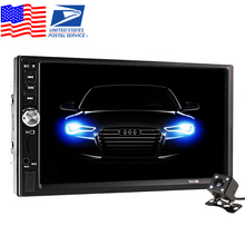 2 DIN Car Video Player + Rear View Camera 7 inch Touch Screen Car Radio Audio Stereo MP5 Player 2Din USB FM Bluetooth