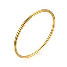 Ограничено по времени элегантные браслеты и браслеты из нержавеющей стали для женщин ювелирные изделия золотого цвета Femme ручная работа полированная