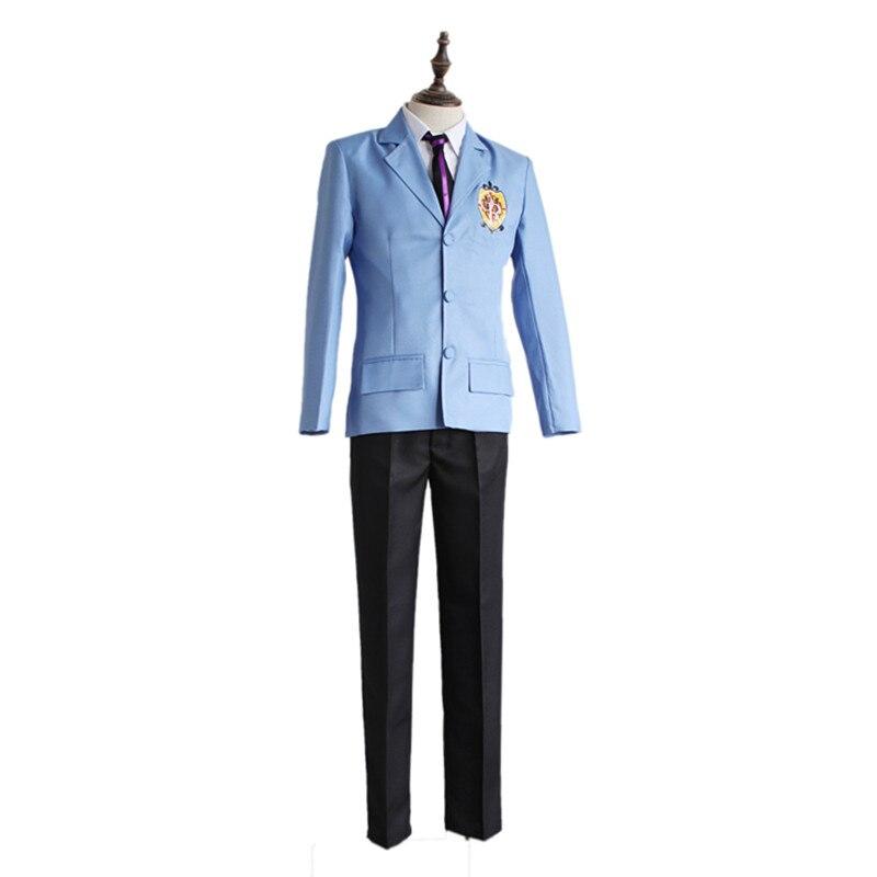 Brdwn Ouran High School Host Club men s King Cosplay Costume school Uniform suit top shirt