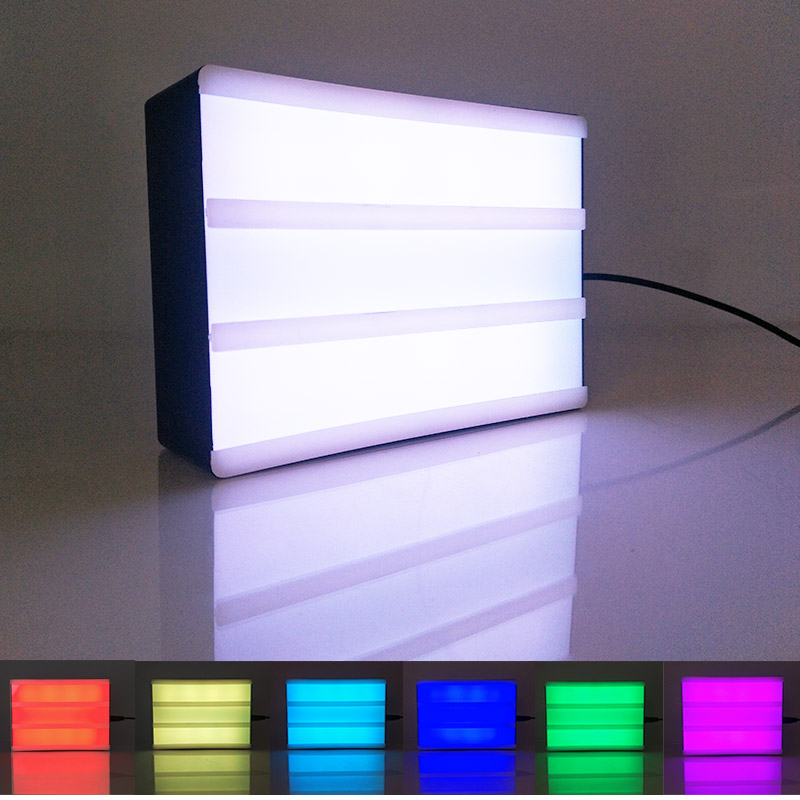 New style Mini A6 RGB cinematic light box with 100 Letters symbols emojis & remote controller ...