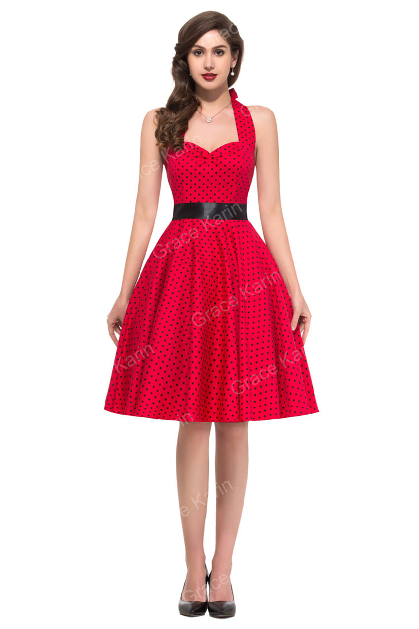 Summer Style Desigual 50s Dress Rockabilly plus size Retro Vintage 1960s  70s Swing Dress Polka Dot Party dress vestidos 4599-in Dresses from Women s  ... 5ede69dacad3