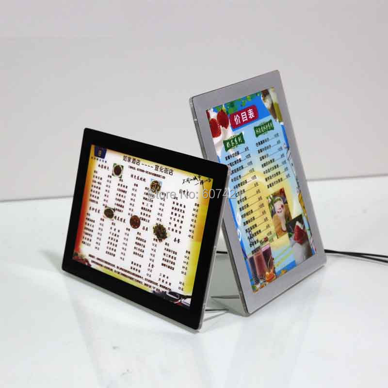 цена на A3 Single Sided Magnetic Front Panel Lightboxes Poster Frames,Free Standing Illuminated Poster Display Stands