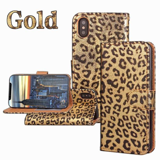on sale ab897 06cc5 US $3.67 20% OFF|Sexy Leopard Print Leather Wallet Case For iPhone 7 6 6S  Plus 8 8plus Luxury Phone Flip Stand PU Soft Back Cover Pink Panther-in ...