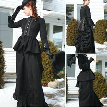 1860S Victorian Corset Gothic/Civil War Southern Belle Ball Gown Dress Halloween dresses  US 4-16 V-1264