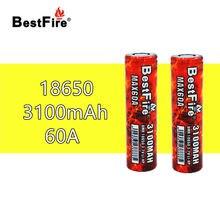2 uds Bestfire 18650 3100mAh 60A batería recargable del VTC6 para humo eleaf Joyetech IJOY Kangertech de Mod de caja para vapeo E-cigarrillo