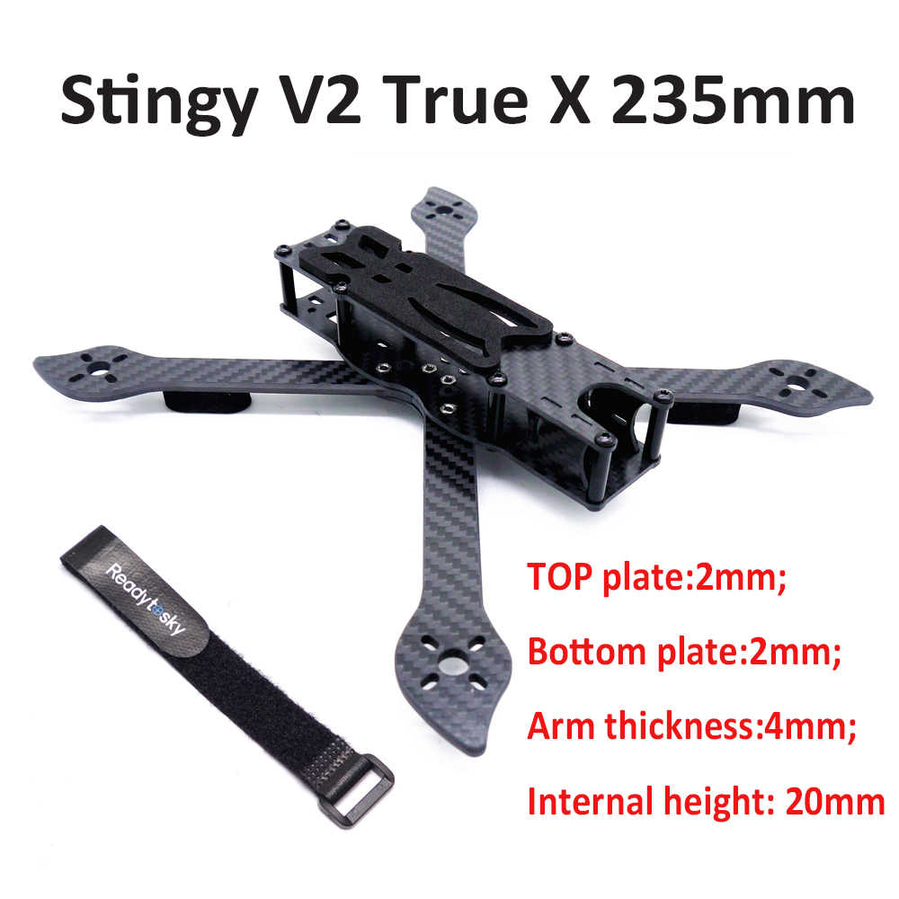 "Stingy V2 True X 5"" FPV Freestyle Frame 235 235mm with 4mm arm FPV Racing Drone Quadcopter Frame Kit better Nova 235"