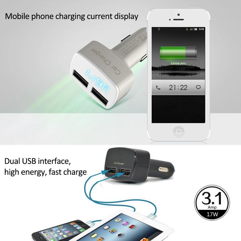 4 in 1 Caricatore per auto doppio USB Voltmetro Volt Misuratori di - Strumenti di misura - Fotografia 5