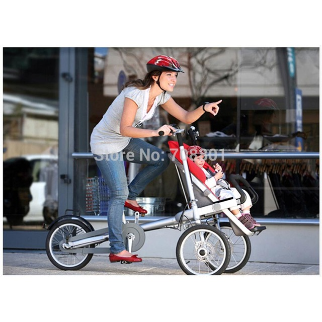 16 pulgadas rueda cochecito bicicleta de aire, interruptor de moda carro de bebé de navidad regalo de múltiples funciones de la bicicleta