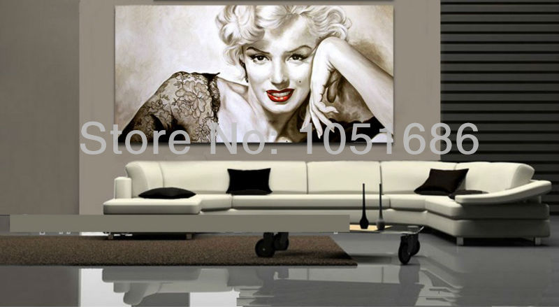 Marilyn Monroe Wall Decor Picture Art Modern Abstract Famous Woman Portrait Paintings Oil Canvas Set For Living Room In Painting Calligraphy From Home