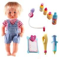 9 Piece /set Baby Doll Boy And Girl Play House Toy DIY Nurse Station Simulation Medicine Box Toys Children's Gift Y30