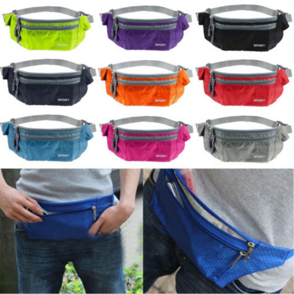 Waterproof Running Belt Bum Waist Pouch Fanny Pack Camping Sports Hiking Zip Bag