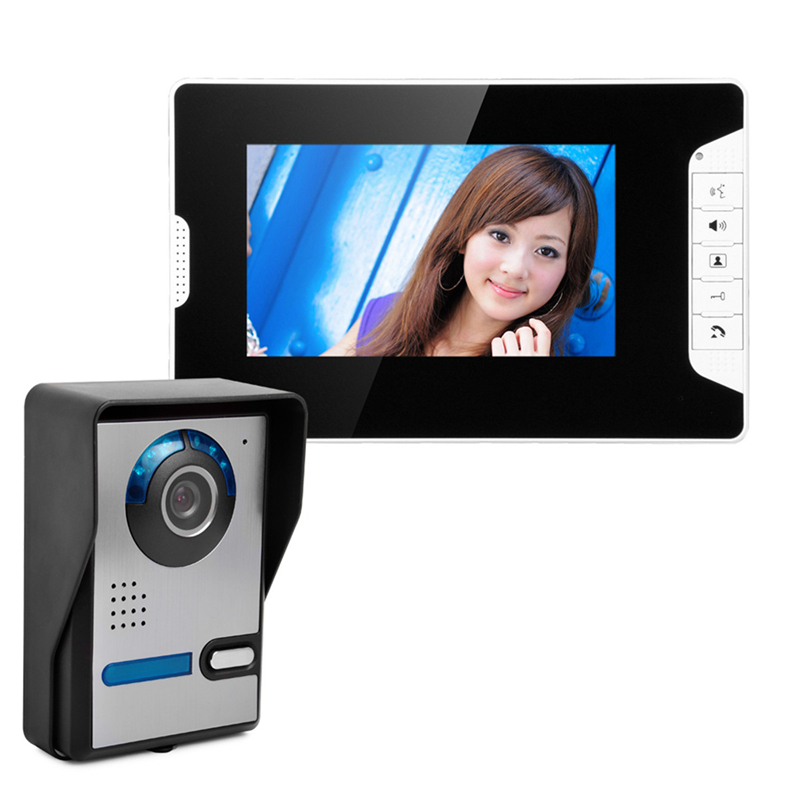 OWGYML 7Color LCD Video Door Phone Intercom System 700TVL Home Security Video Intercom Waterproof Doorbell Camera Night Vision