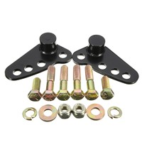 Black Steel 1 3 Inch Rear Adjustable Lowering Kit For Harley Street Electra Ultra Glide 2002