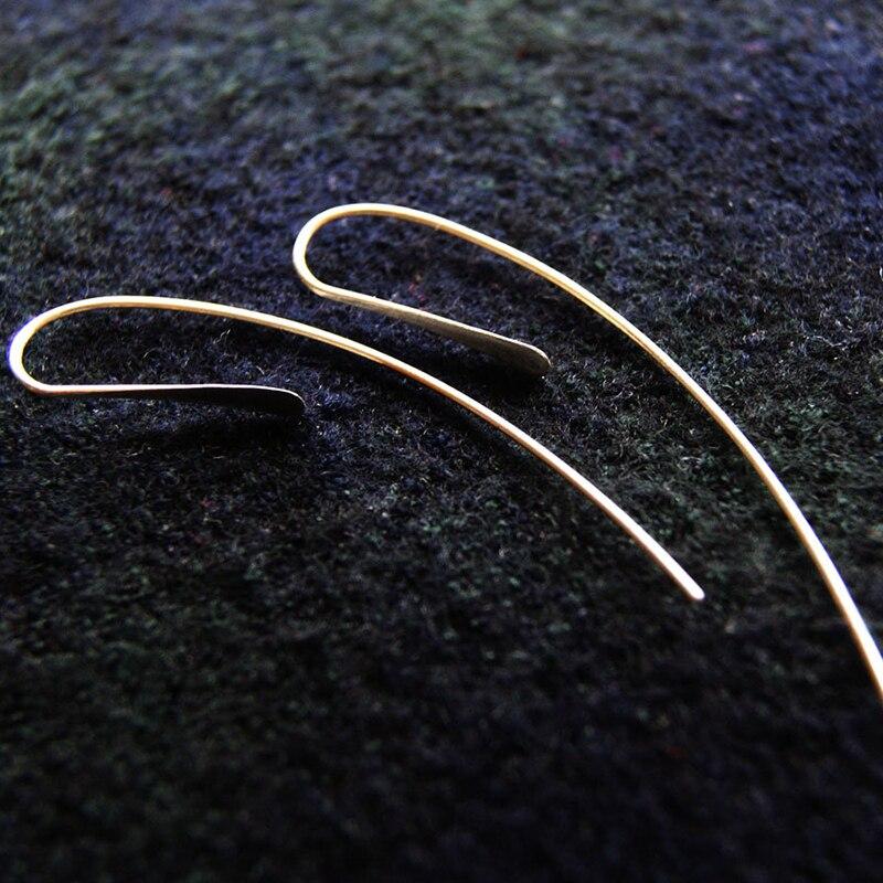 Handmade Long Bar Earrings Gold Filled/925 Silver Jewelry Vintage Jewelry Minimalist Brincos Oorbellen Earrings For Women