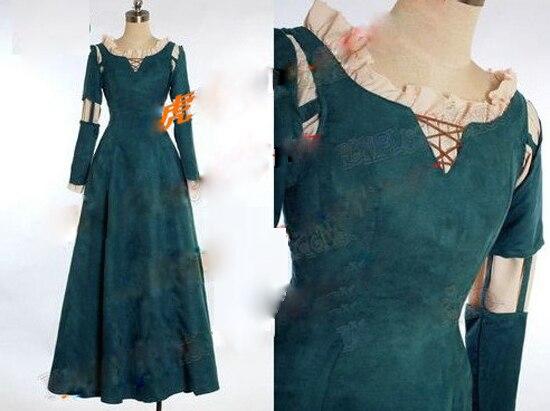 Princess Merida Adult Costume Brave Merida Cosplay Dress Film Movie