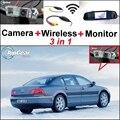 3 in1 Especial de Visión Trasera Wifi Cámara + Receptor Inalámbrico + Fácil Sistema de Copia de seguridad Aparcamiento Monitor del espejo Para Volkswagen VW Phaeton