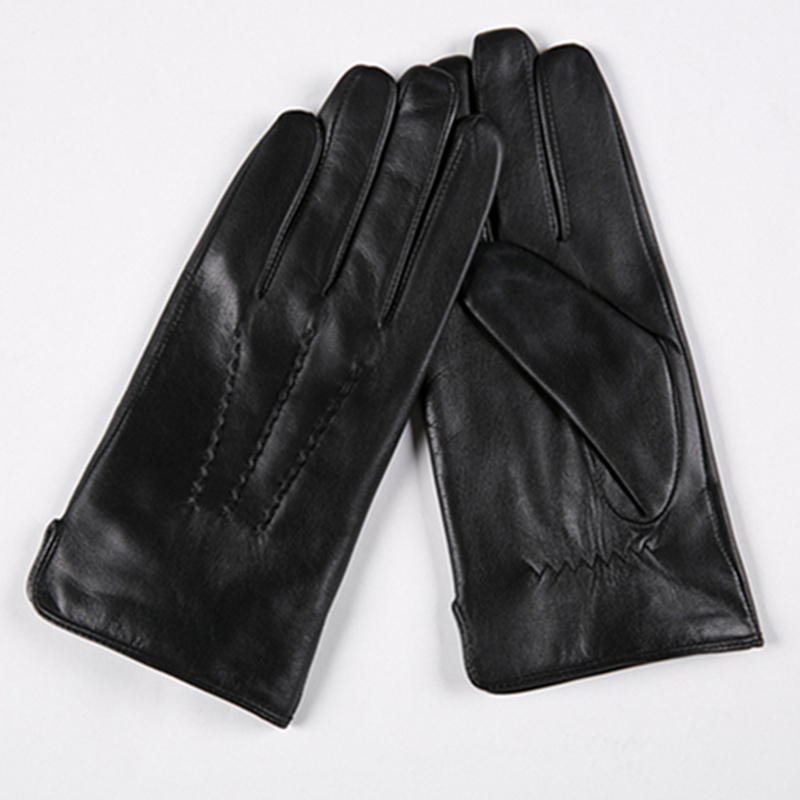 Image 5 - Gours Winter Genuine Leather Gloves Men New Brand Black Fashion Warm Driving Gloves Goatskin Mittens Guantes Luvas GSM015-in Men's Gloves from Apparel Accessories