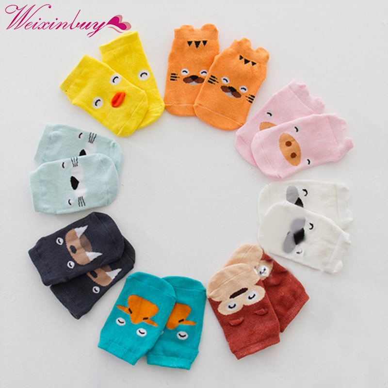 2018 Cute Baby Socks Summer Autumn Cotton Cute Non-slip Boys Girls Newborn Infant Bebe Cartoon Soft Floor Wear