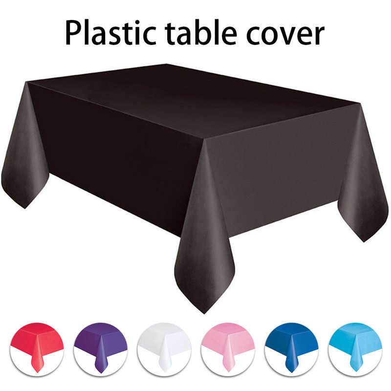 137*183cm Disposable Plastic Table Cover Cloth Wipe Clean Party Tablecloth Round Covers Cloths birthday party