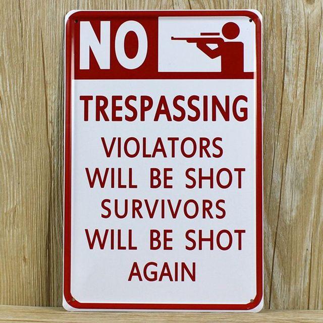 Free-shipping-Warning-No-Trespassing-Sig