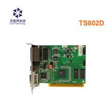 LINSN TS802D שליחת כרטיס מלא צבע LED וידאו תצוגת LINSN TS802 שליחת כרטיס סינכרוני LED וידאו כרטיס DS802 מקורה חיצוני