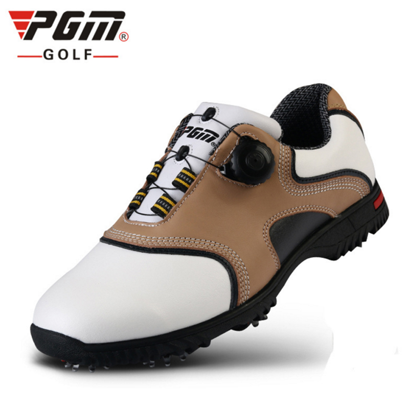 PGM Leather Golf Shoes For Men Breathable PU Sneaker Outdoor Men Sport Golf Shoes Hombre Golf Shoes Chaussure Sapatos De Golfe  цена