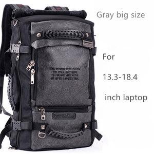 Image 2 - ノートパソコンのバックパック 17 18 インチのラップトップバッグ 17.3 15.6 14 インチ屋外大旅行バックパックショルダー男性バッグ容量マルチ目的