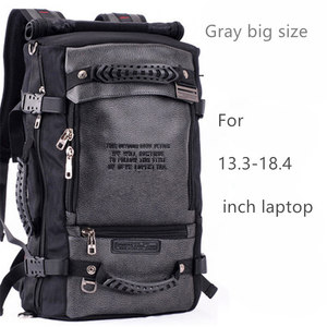 Image 2 - كمبيوتر محمول على ظهره 17 18 بوصة حقيبة لابتوب 17.3 15.6 14 بوصة في الهواء الطلق حقيبة السفر الكبيرة الكتف الرجال حقيبة سعة متعددة الأغراض