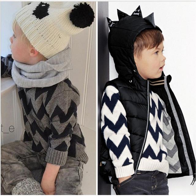 2016 novas crianças roupas de estilo Bobo ondas criança 100% algodão de manga comprida camisola de malha bebê roupas de bebê menino meninas camisola