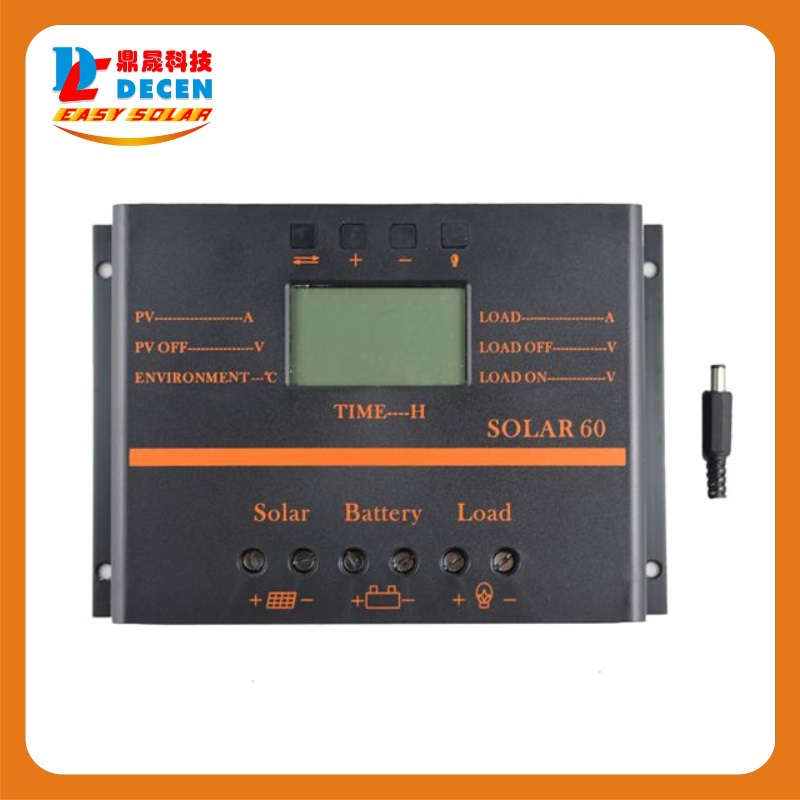 Solar  60A  LCD PV Panel Battery Charge Controller 12V 24V Solar System Home Indoor 5V USB Solar Charge Controller 100w folding solar panel solar battery charger for car boat caravan golf cart
