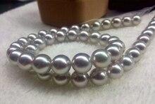 Eternal wedding Women Gift word 925 Sterling silver real natural big super south sea gray pearl n