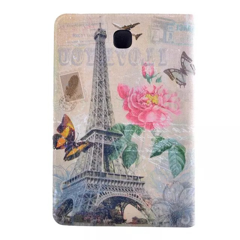Tower Flower PU Leather Tablet Case Flip Stand Protective Cover For Samsung Galaxy Tab A 8.0 T350 T355 SM-T355 Tablets Case
