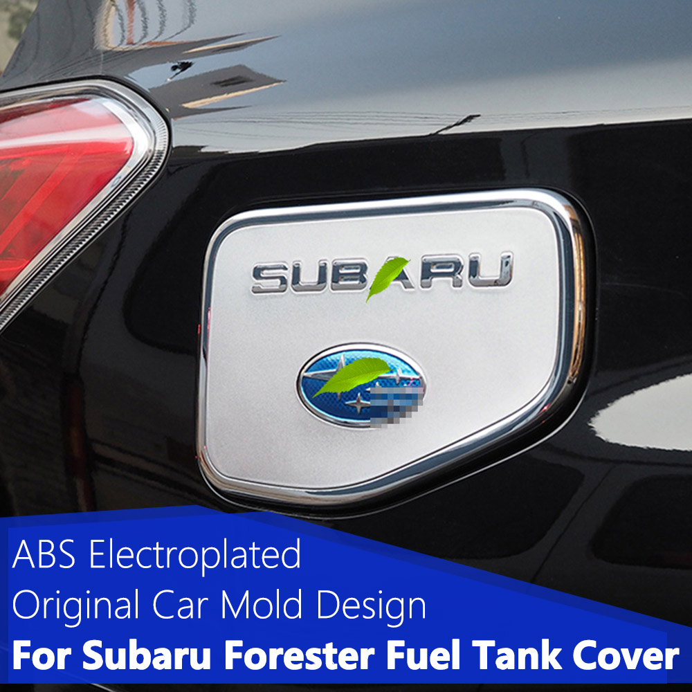 Car Styling ABS Chrome Fuel Tank Cap Cover For SUBARU Forester 2013 to 2018 Gas Tank Cap Fuel Cap Cover Trim Sticker