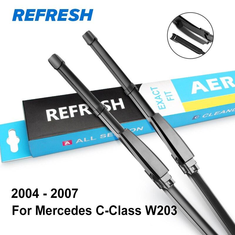 Обновить Щетки стеклоочистителя для Mercedes Benz C Класс W203 W204 W205 C160 C180 C200 C230 C240 C250 C270 C280 C320 C350 C400 C450 AMG - Цвет: 2004 - 2007 ( W203 )