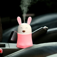 Lovely Bunny Bear Humidifier Pet Shape Mini Air Purifier Nightlights Low Noise Portable Humidifiers USB Power Supply
