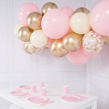 40pcs DIY Balloon Garland Peach Pink Macaron Gold Metal confetti Balloons Wedding Engagement Birthday Baby Shower Decor