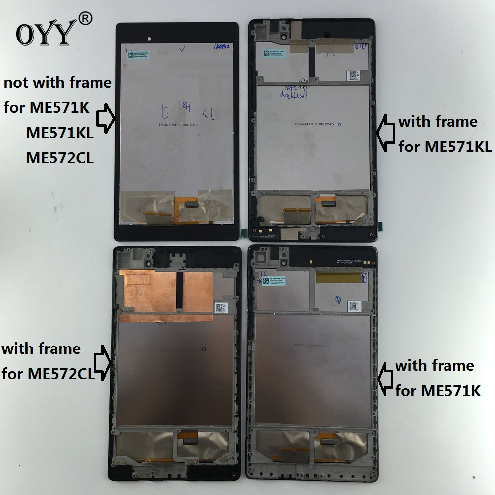 купить LCD Display Touch Screen Digitizer Glass Assembly For ASUS Google Nexus 7 2nd 2013 FHD ME571 ME571K ME571KL ME572CL K008 K009 по цене 1774.73 рублей