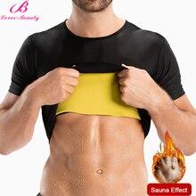 Lover-Beauty Men Sweat Waist Trainer Slimming Corset Vest for Weight Loss Neoprene Body Shaper Sauna Suit Shirt Trimmer
