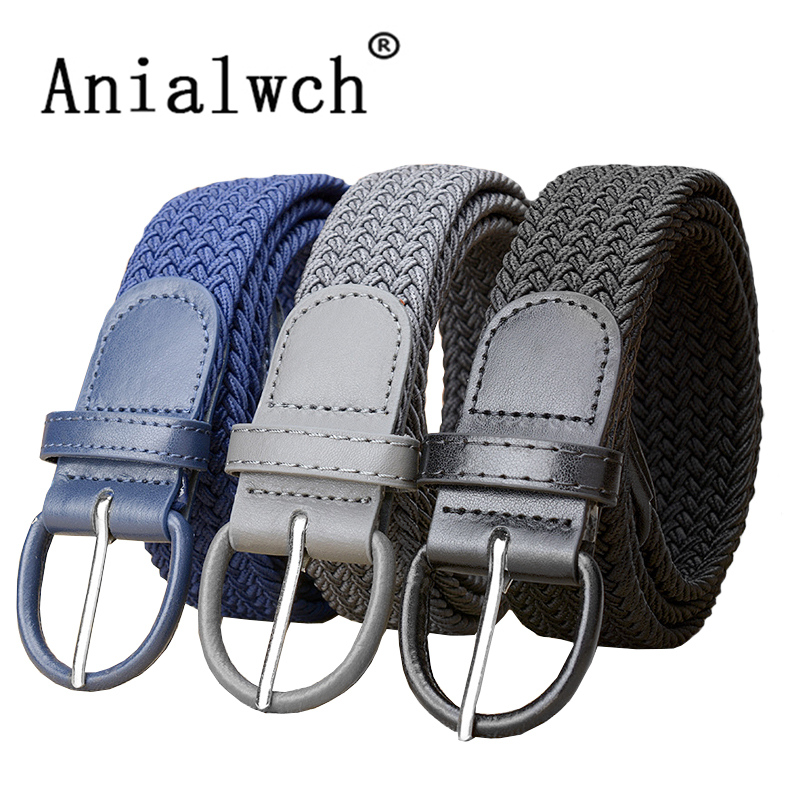 100x3.5cm Fashion Female Casual Stretch Woven Belt Women's Unisex Canvas Elastic Belts For Women Jeans Modeling Belt C240