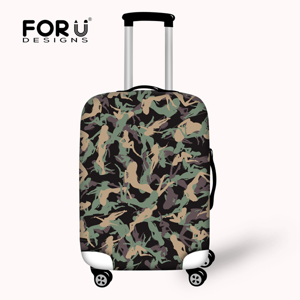 01cfb1c7e0 Designer Elastic 18-30inch Luggage Protective Cover Camouflage Travel  Trolley Luggage Dust Cover Waterproof Suitcase Cover